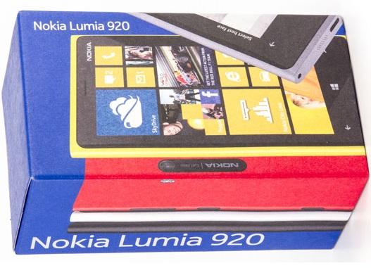 упаковка lumia 920
